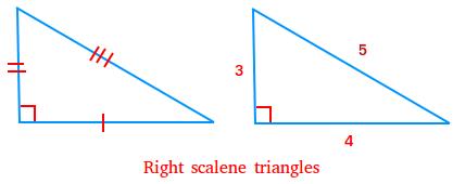 Right scalene triangles