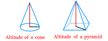 Altitude of a cone and of a pyramid