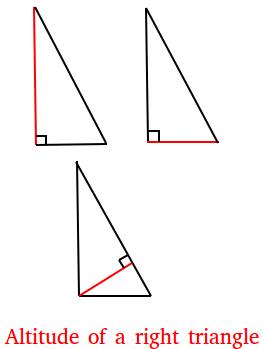 Altitude of a right triangle