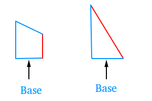 Base of a triangle and a trapezoid