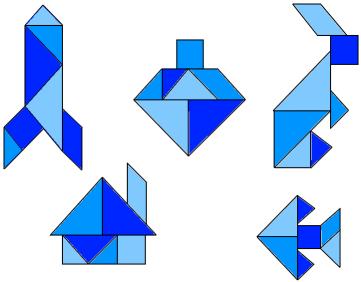 Examples of tangrams