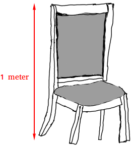 Height of a side chair equals 1 meter