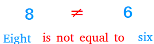 Not equal to sign