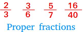 Proper fractions