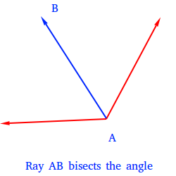 Ray AB bisects the segment