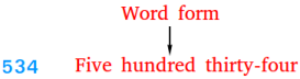 Word form of a number